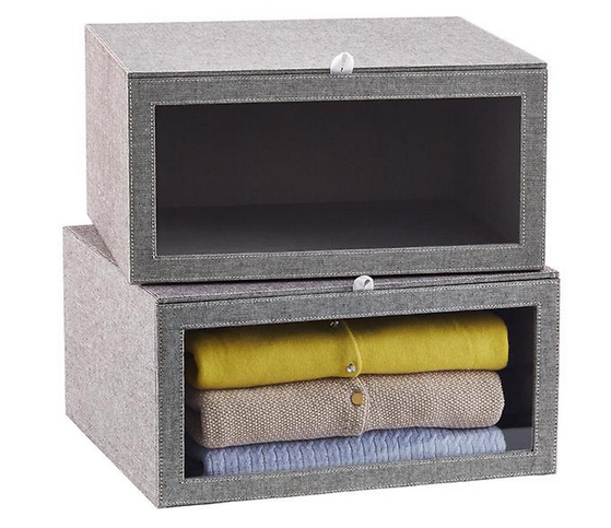 Grey Drop-Front Sweater Box