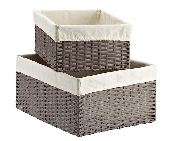 Rectangular Montauk Storage Bins