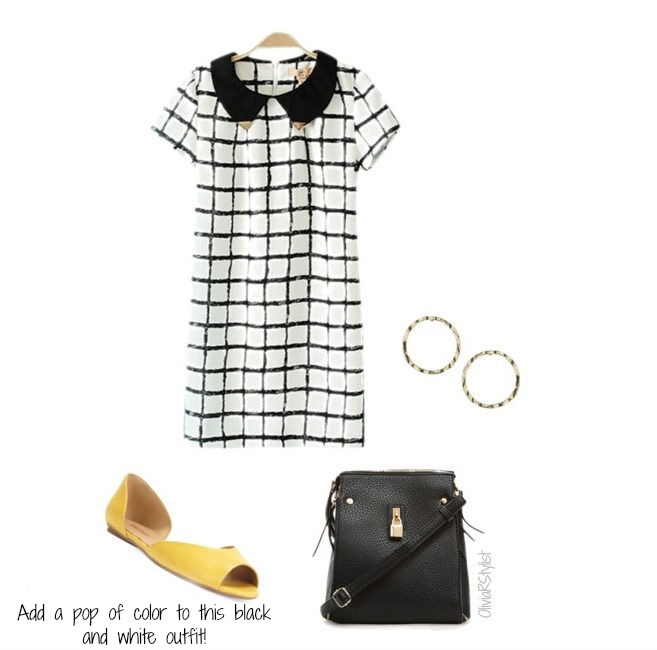 Dress:   6KS    Flats:   Nine West    Bag:   DailyLook    Earrings:   TopShop