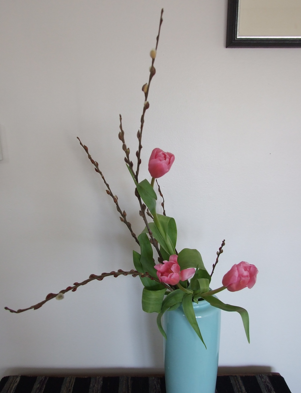 Pussy Willow and Tulip