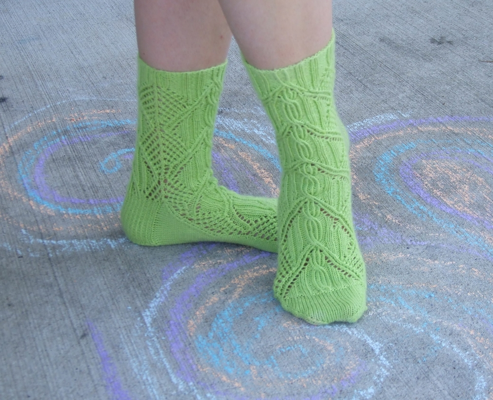 Pattern: Vilai by Cookie A Yarn: Cascade Yarns Heritage Sock Colorway: 5629