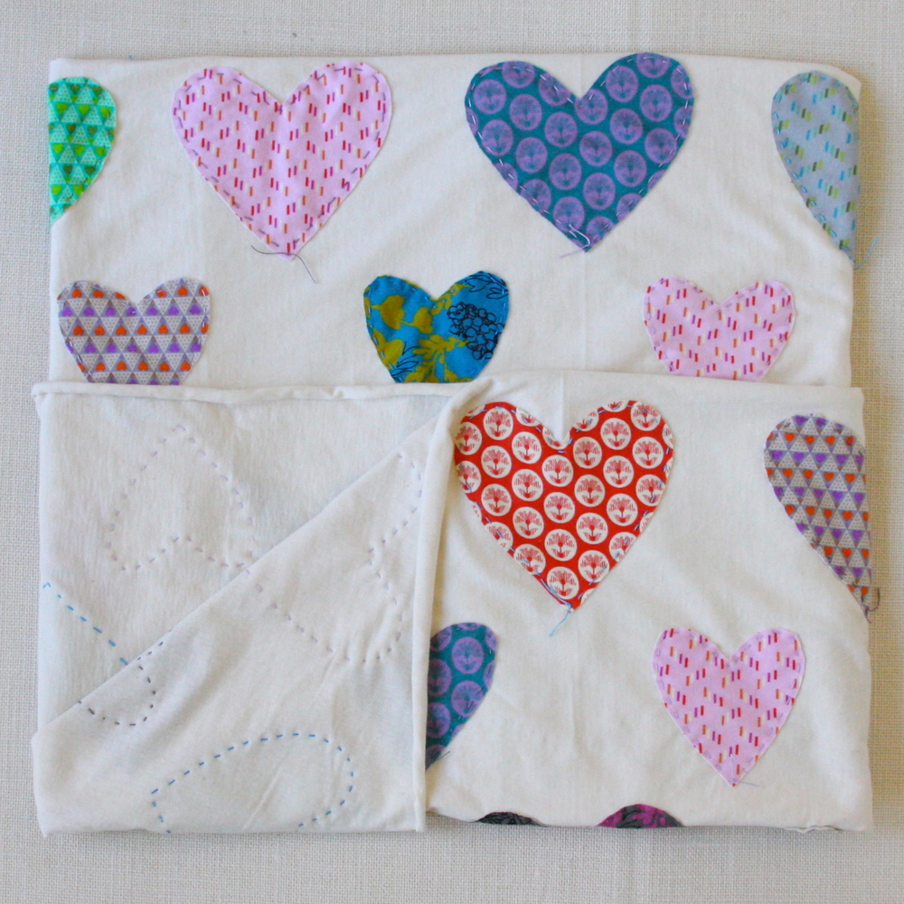 Hand Stitched Hearts Blanket Craft South
