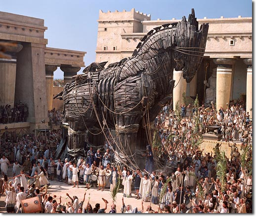 Trojan Horse of Greek Mythology...not quite as well fed as the local Trini version.