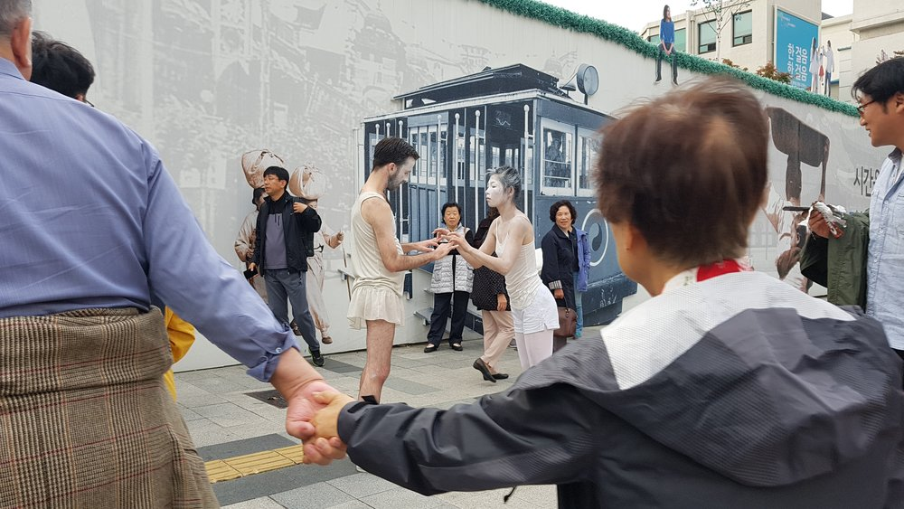 Public Playtime, performance with Mihee Lee, Seoul, South Korea, 2017.