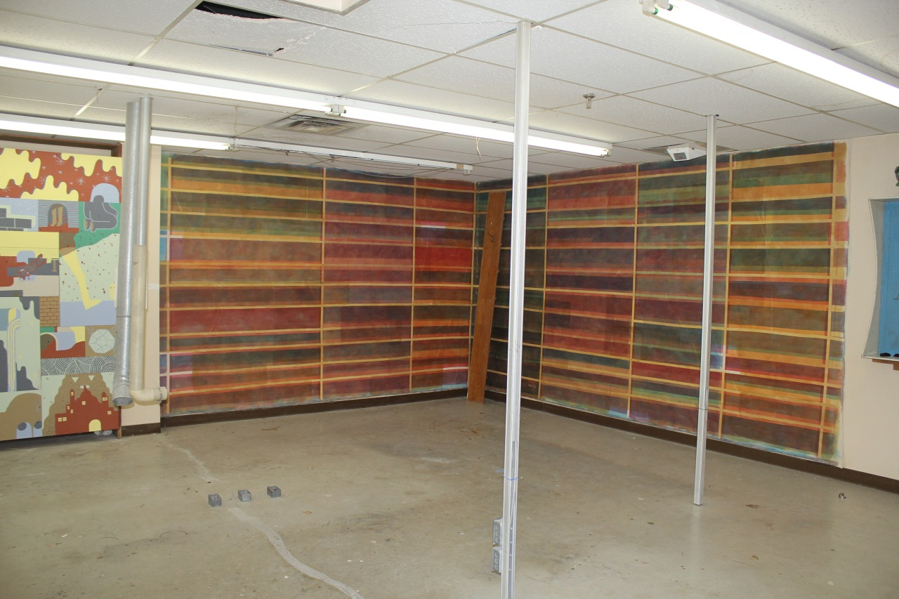 Come see Patrick Howlett's incredible painting,  empty shelves  this work occupies the north west walls of DNA's 2nd floor.