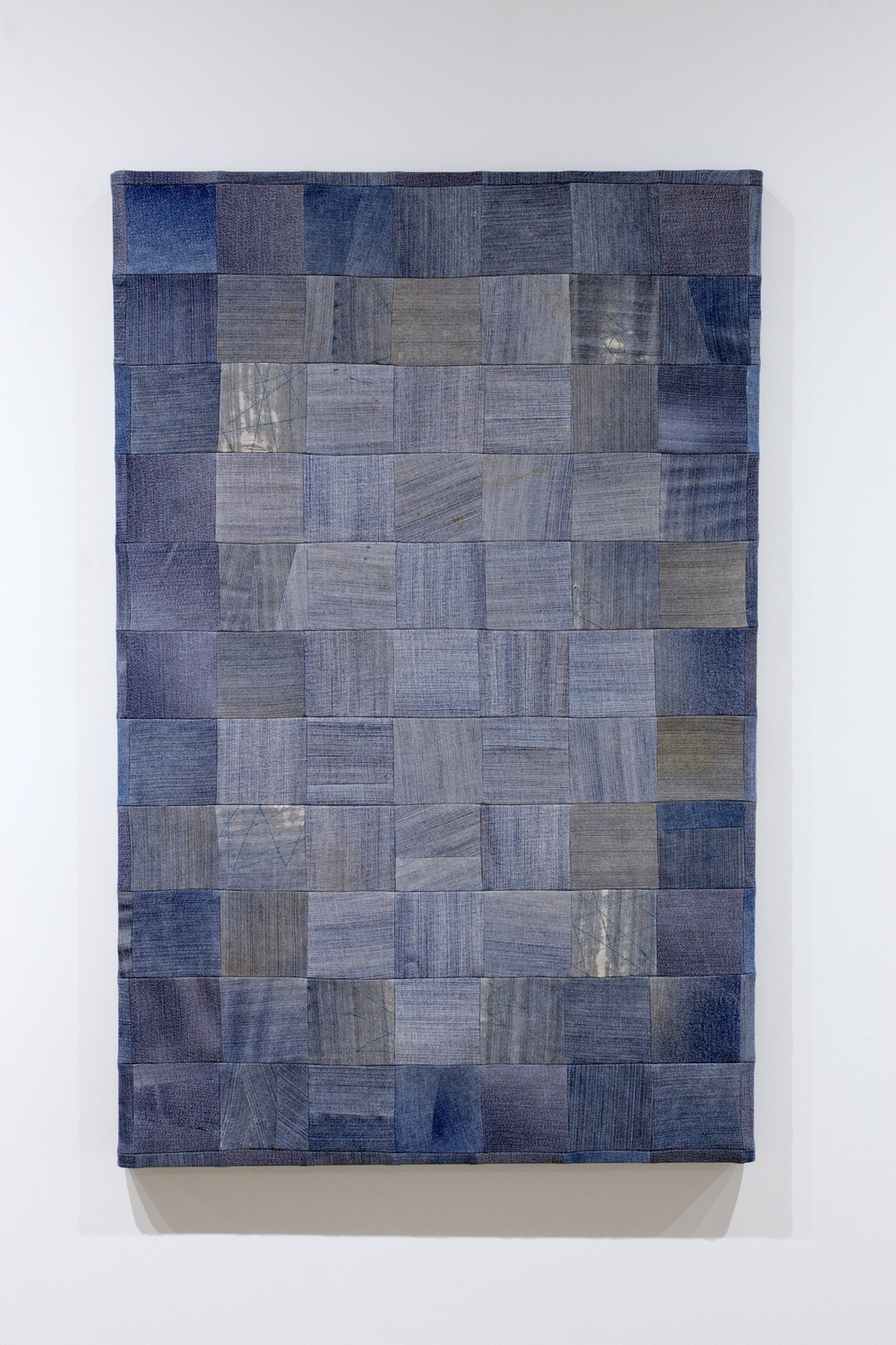 Jeans (Light) , 2015, mixed fabrics, 88 x 75 cm (34.5 x 29.5 in)
