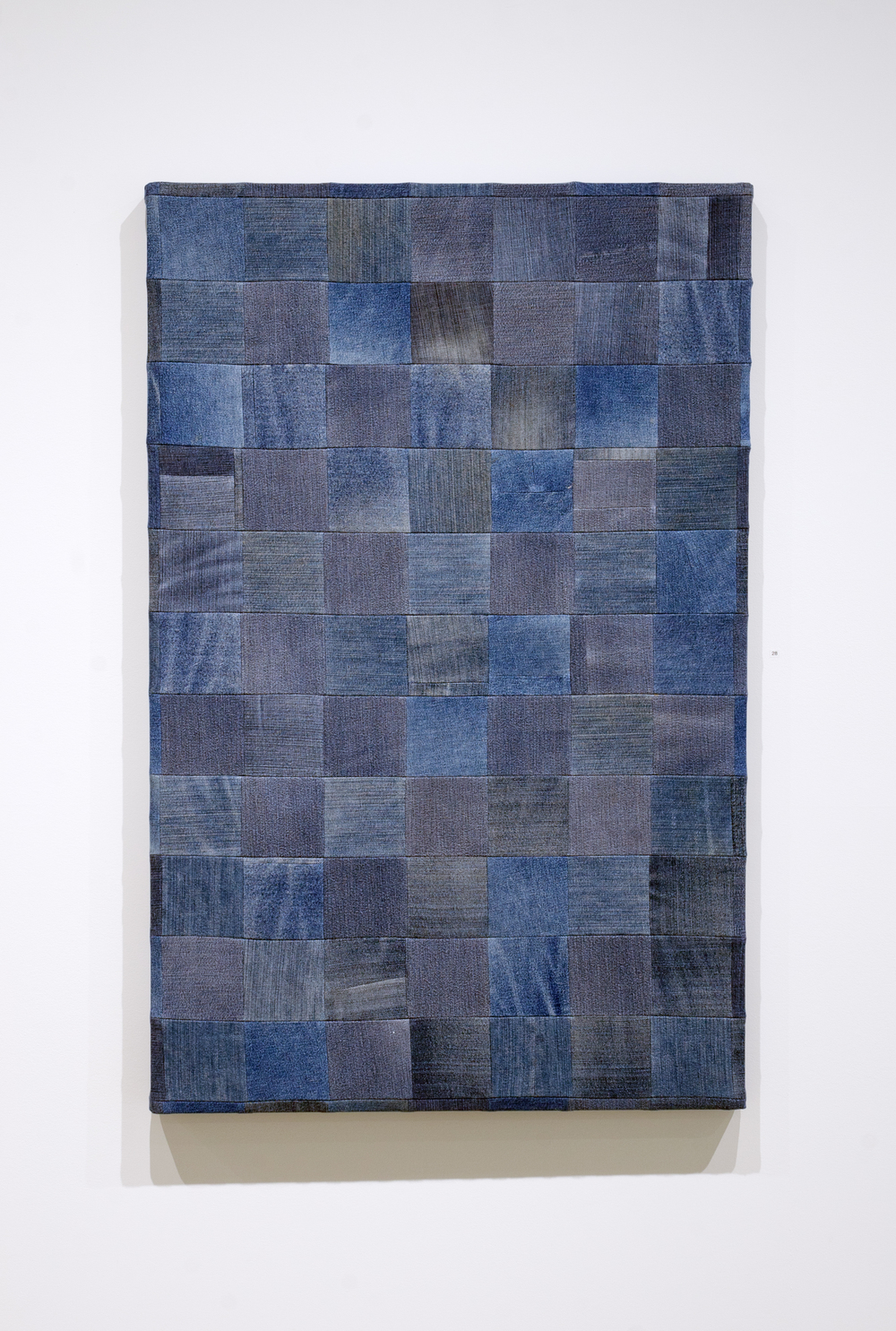 Jeans (Medium),  2015, mixed fabrics, 88 x 75 cm (34.5 x 29.5 in)