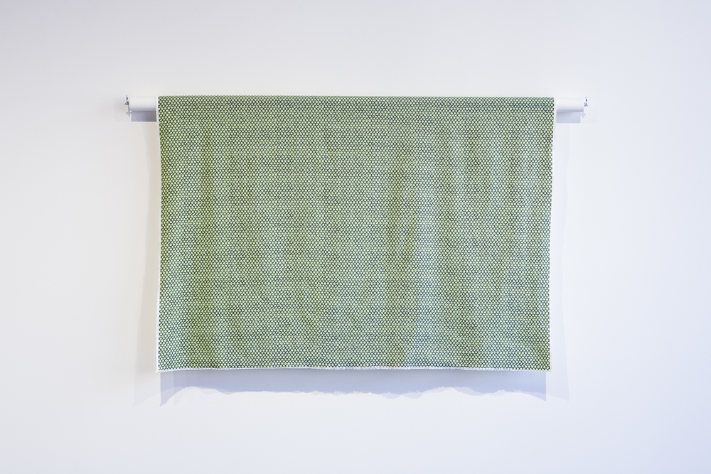 Scales Fabric , 2015, mixed media, 91 x 122 x 5 cm (36 x 48 x 2 in) variable
