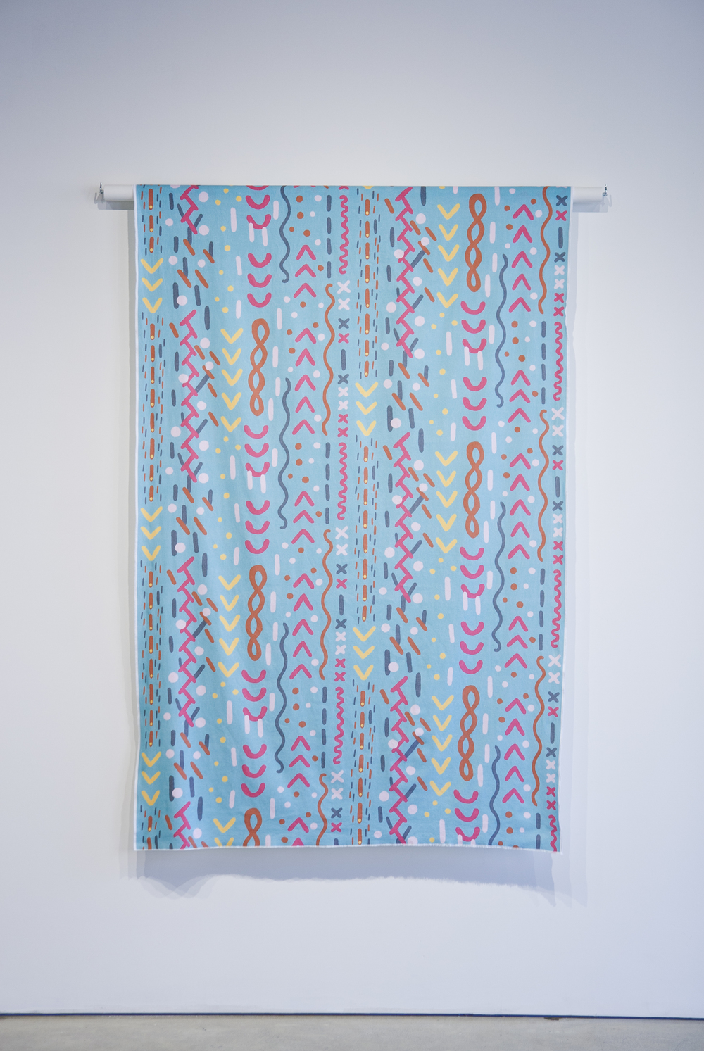 Stitches Fabric,  2015, mixed media, 183 x 122 x 5 cm (72 x 48 x 2 in) variable