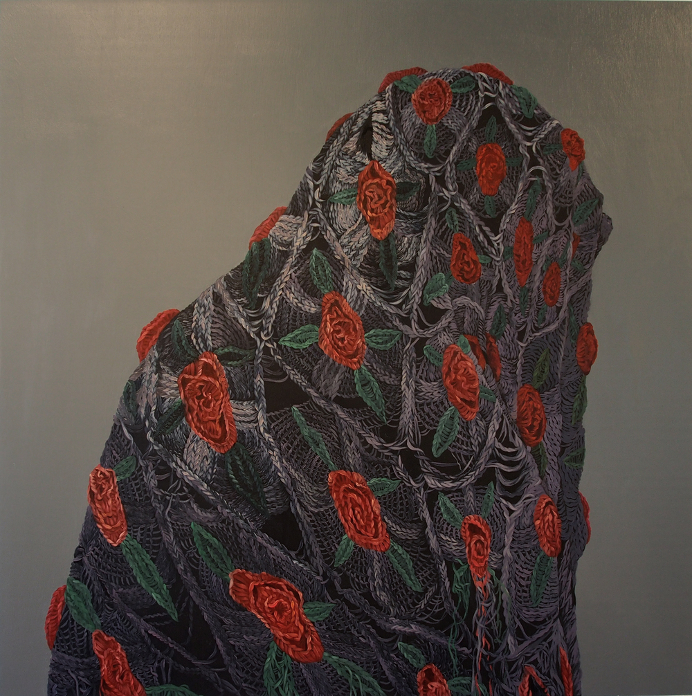"""Blanket Asuang 2, 2015, oil on panel, 30"""" x 30"""""""