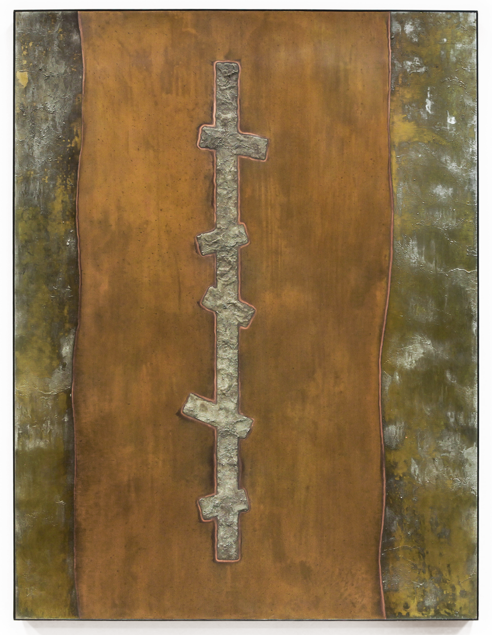 "Crosscurrent No. 4 , Feb-March, 2015, copper, tin, pine, plywood aluminum, 48 1/8""h x 36 3/16""w x 2""d   AVAILABLE"