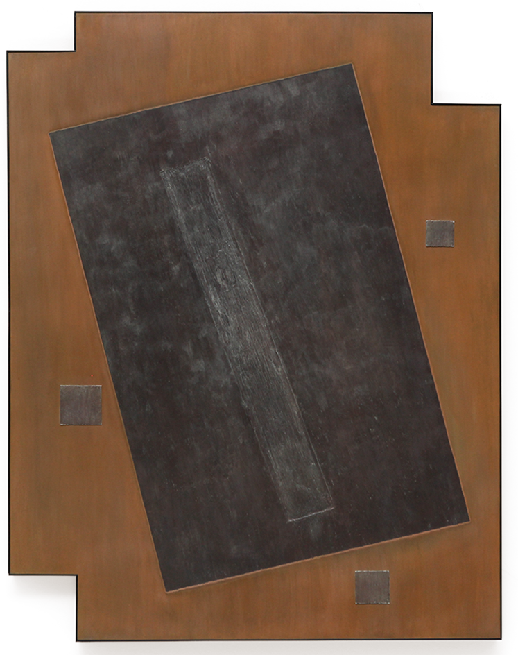 "Press No. 6 , Dec. 2015, copper, tin, pine, plywood aluminum, 48 3/16""h x 36""w x 2""d  AVAILABLE"