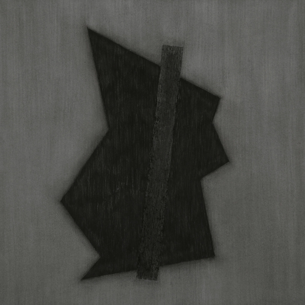 "Divergent Harmonies No. 1 , April 2015, charcoal on Stonehenge, 44""h x 44""w  Divergent Harmonies No. 3 , 2015, charcoal on Stonehenge, 44"" x 56""  AVAILABLE"
