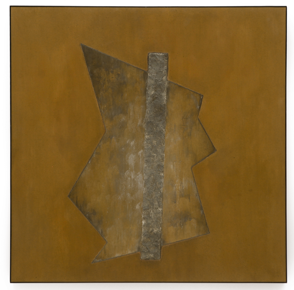 "Divergent Harmonies No. 1 , April 2015, copper, tin, pine, plywood, aluminum, 36 7/16""h x 36 3/16""w x 2""d"