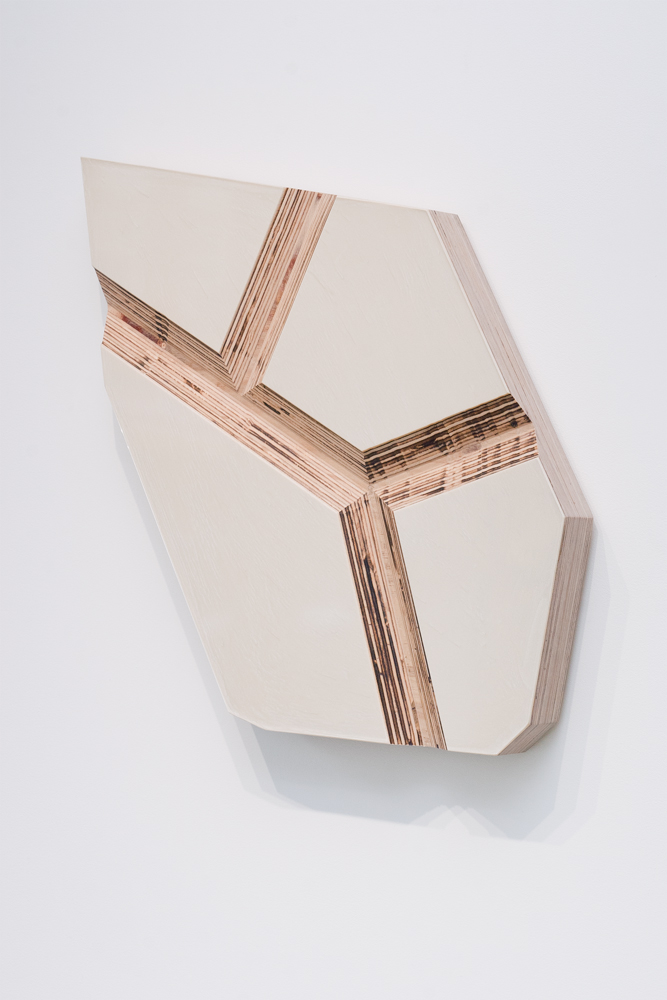 Rough Stone   (2), 2012, epoxy and pigment on Russian    Plywood, 22 x 22 inches.