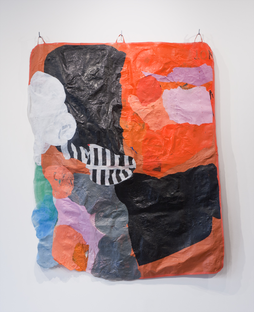 "Transitional Object 05, 2017,  71"" x 55"", fused recycled plastic bags"
