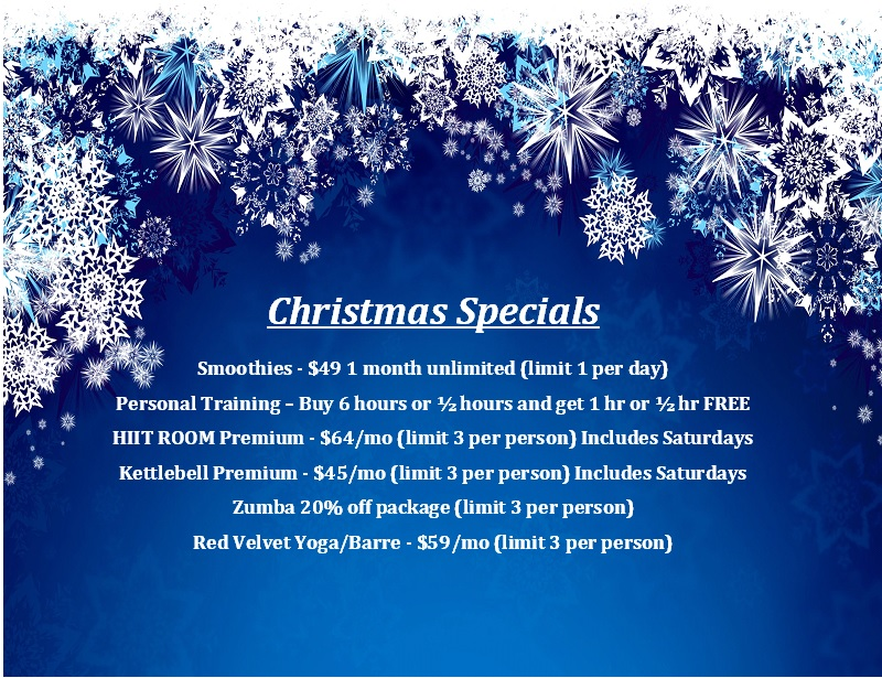 These specials will run until 12/31/14. Do not miss out!