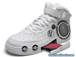A CD playing set of trainers?