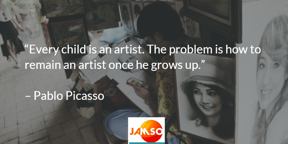 Every child is an artist the problem is how to remain an artist once you grow up