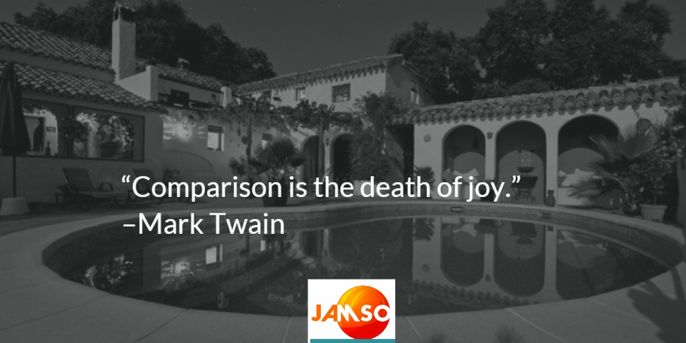 Comparison is the death of joy quote by Mark Twain