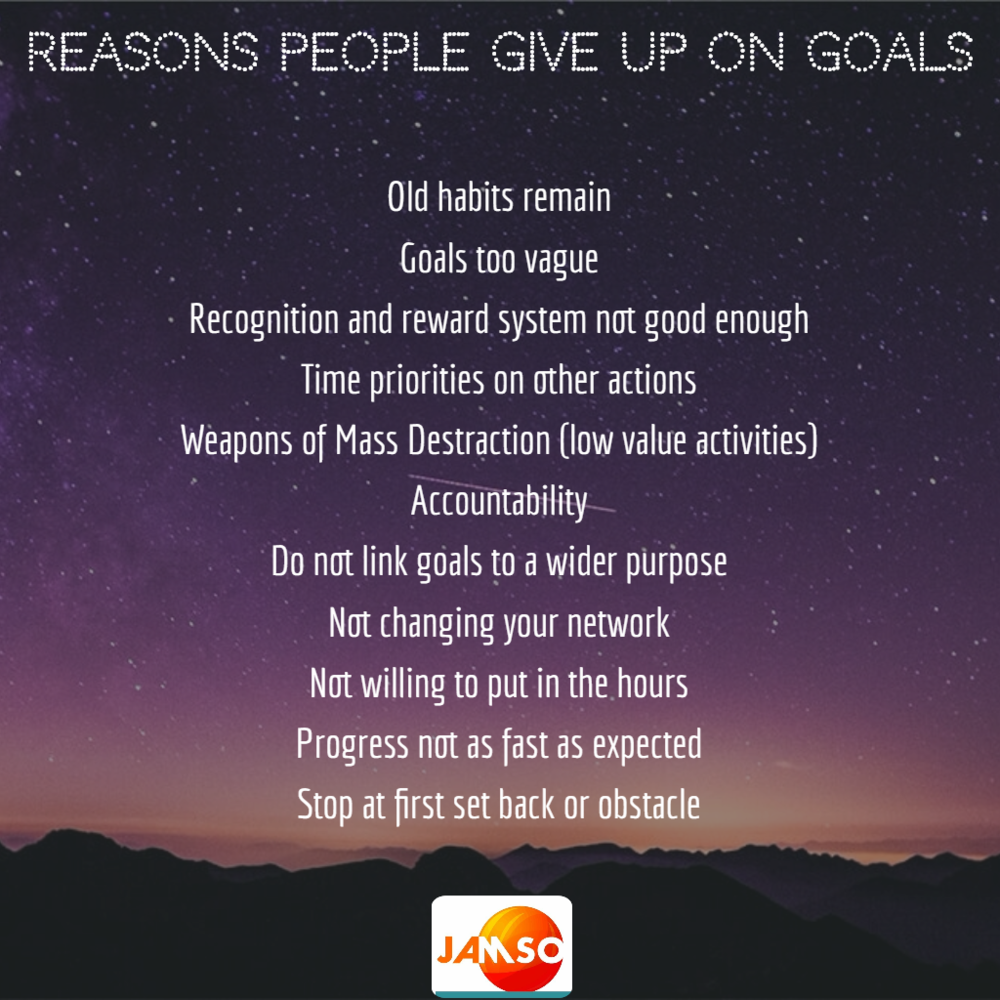 The most common reasons, do you relate to any of these?