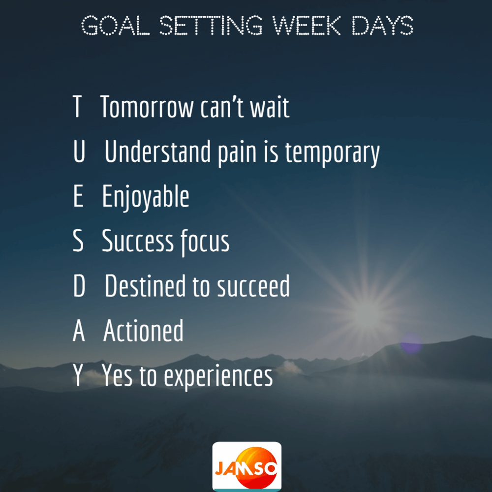 Tips for Tuesday goal motivation