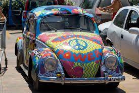 Hippy flower power VW