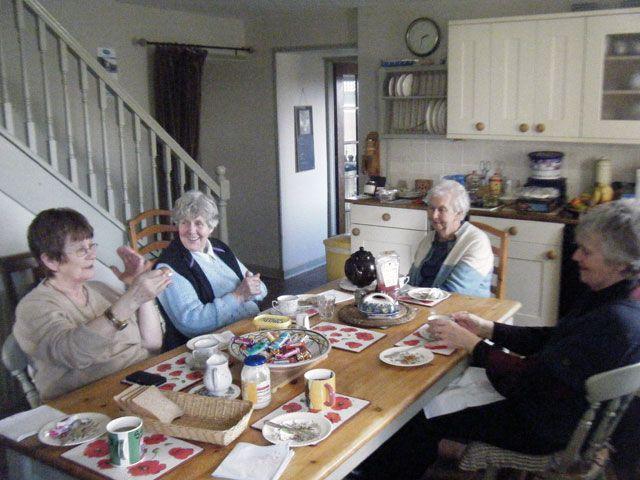 Enjoying a stimulating gathering