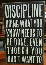 Think about discipline fully
