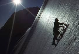 Ice climbing pushes the mind and body
