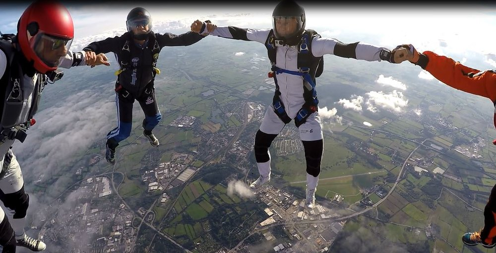 Skydive fun over Germany : Safety is king here