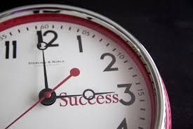 The time is success o'clock