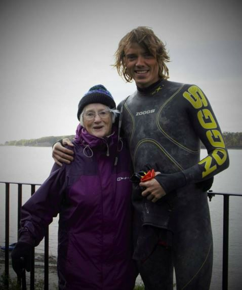 An inspiring Irish lady with the first person to swim the river Severn in the UK.
