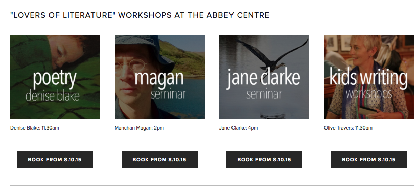 Saturday Literary Workshops. Click to view