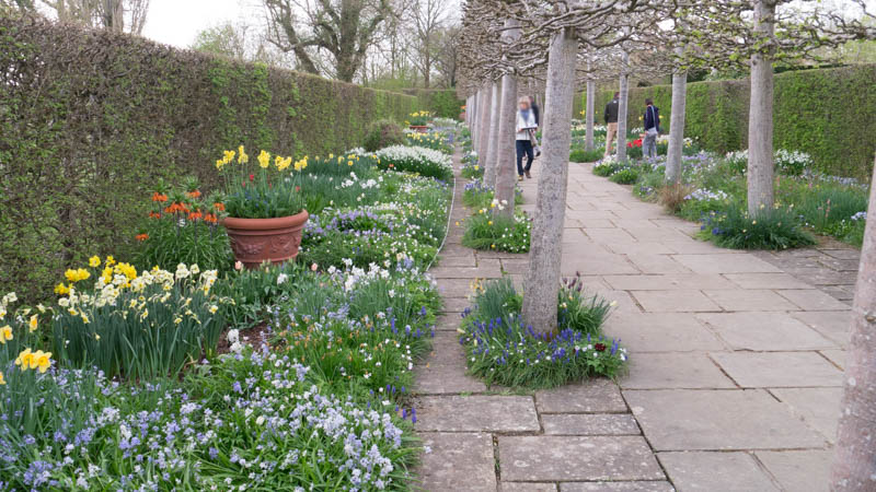 These spring borders at Sissinghurst in Kent take the breath away when you are there; in a two dimensional rectangle defined by your camera lens the effect is diminished. Panasonic Lumix GX1, 14-42mm lens, unprocessed.
