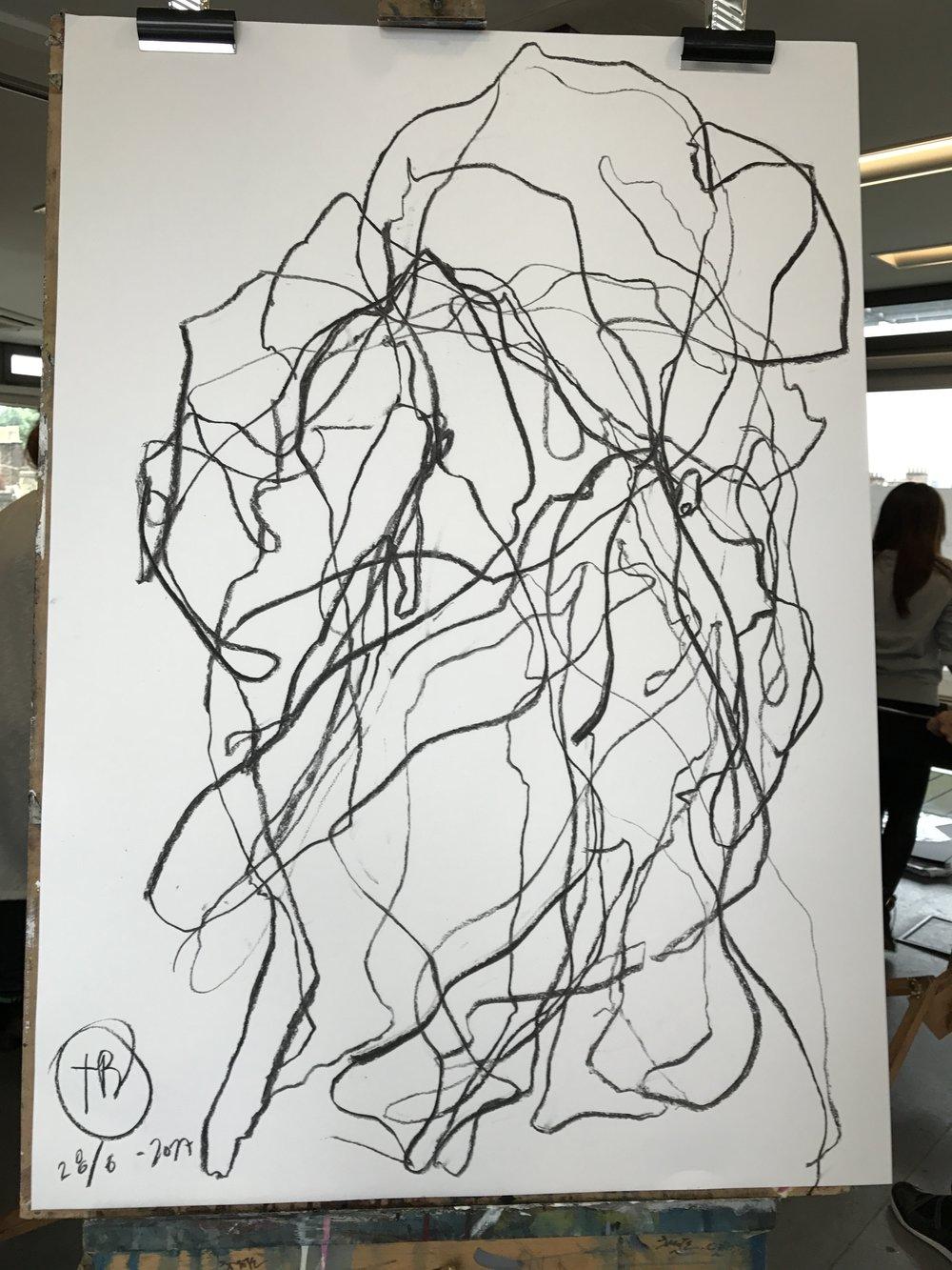 Graphite on paper.