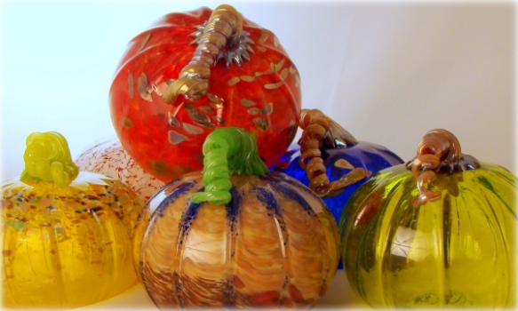 Blown Glass Pumpkins by Ed & Barbara Streeter.JPG