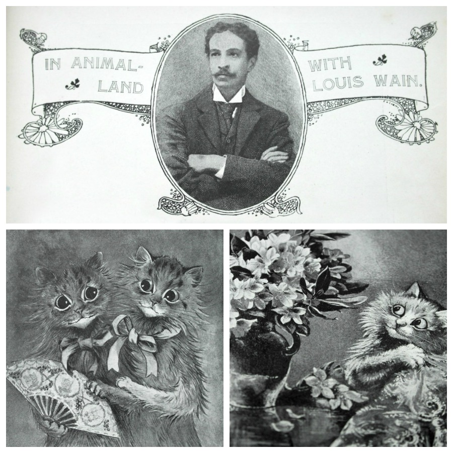 Vintage: In Animal Land , Louis Wain Cat Illustrations / Drawings