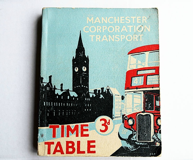Manchester Transport vintage Time Table