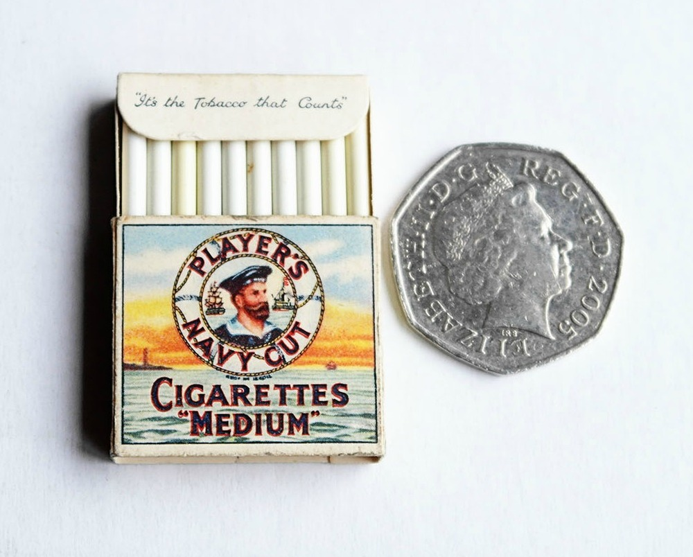 Vintage Players Cigarettes Miniature packet