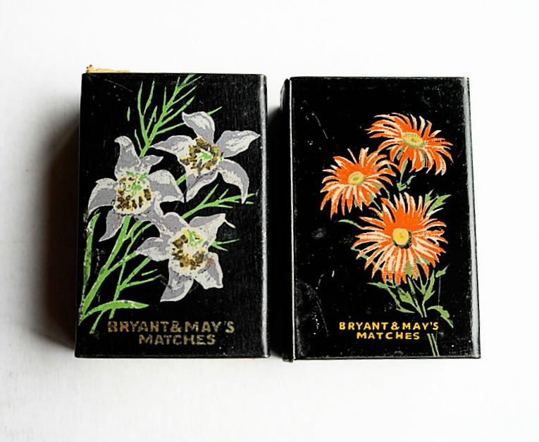 Vintage Bryant and May match boxes
