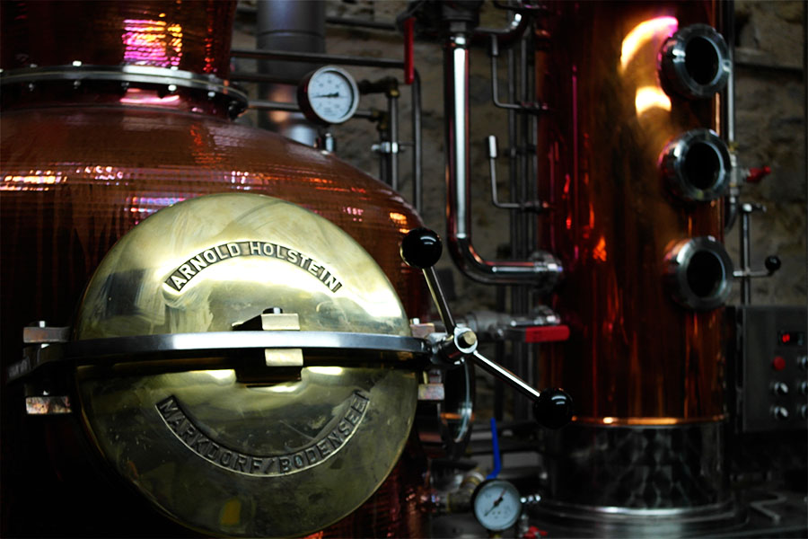 Warner Edwards Gin being made