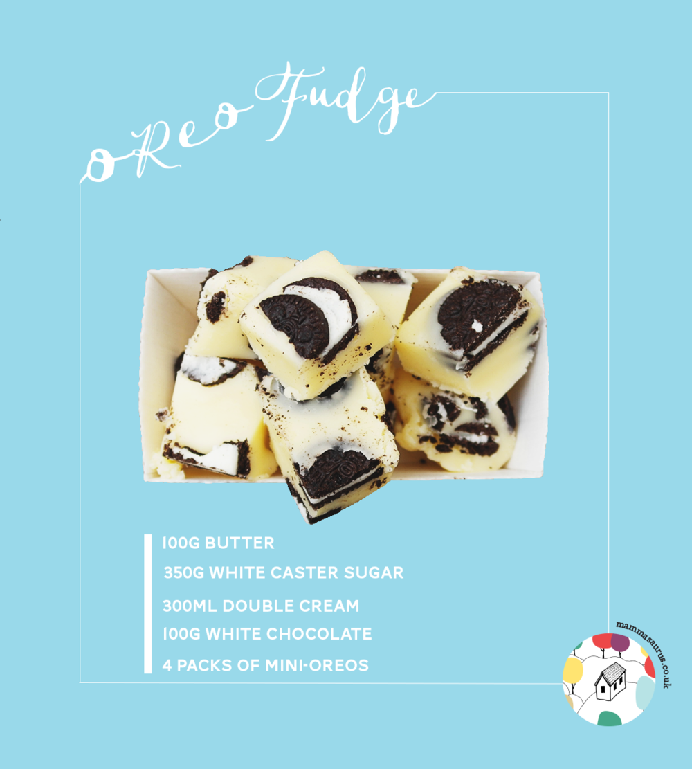 Oreo and white chocolate fudge recipe - tastes SO good!