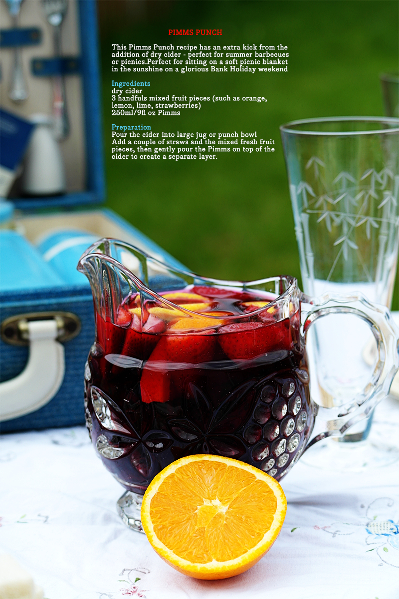 Pimms Punch recipe - perfect summertime picnic drink!