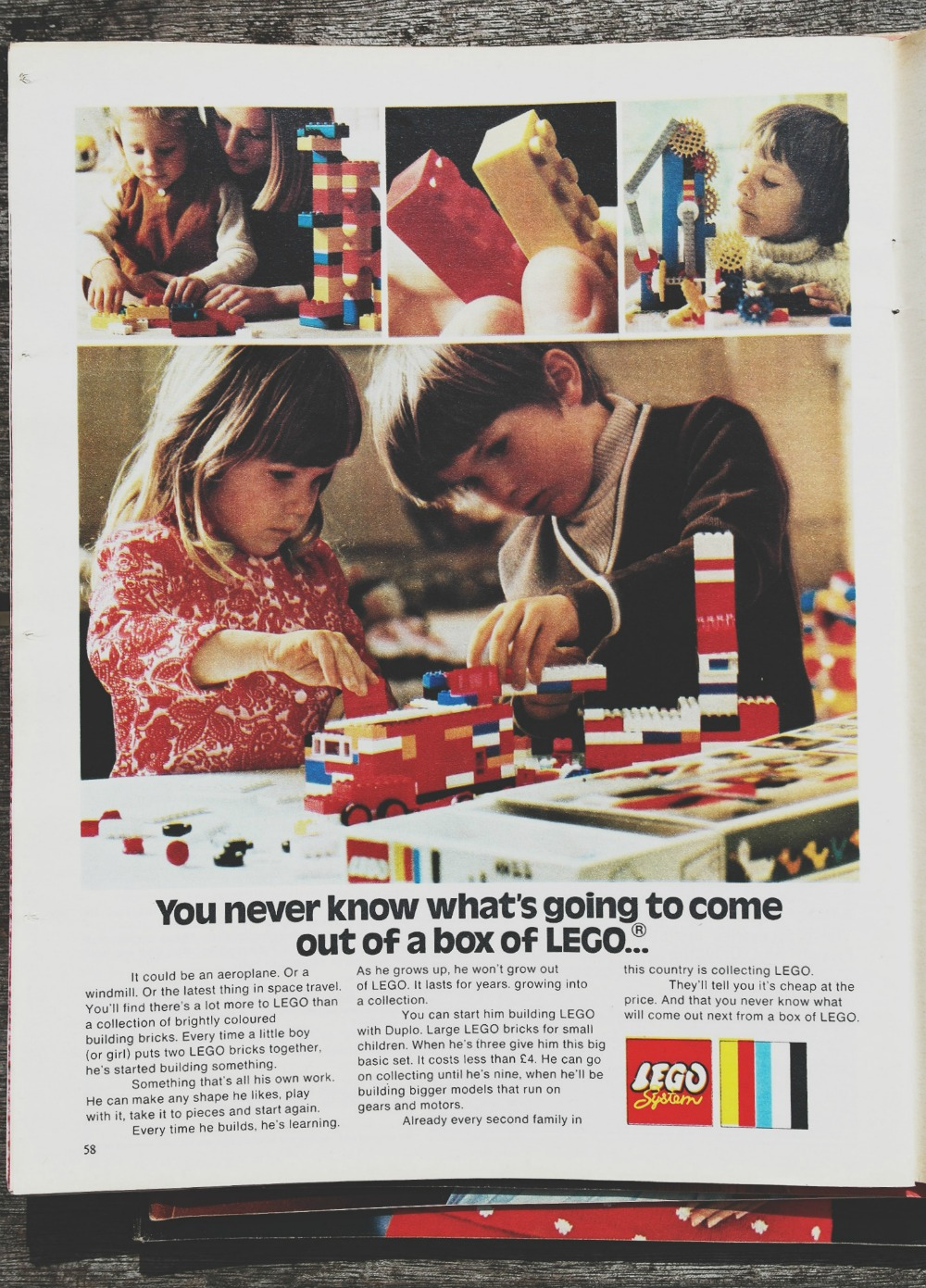LEGO advert from 1972