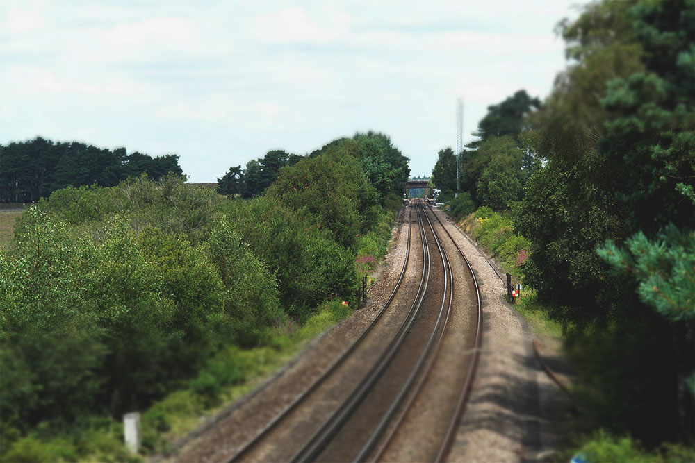 Train track by Beaulieu Road Station