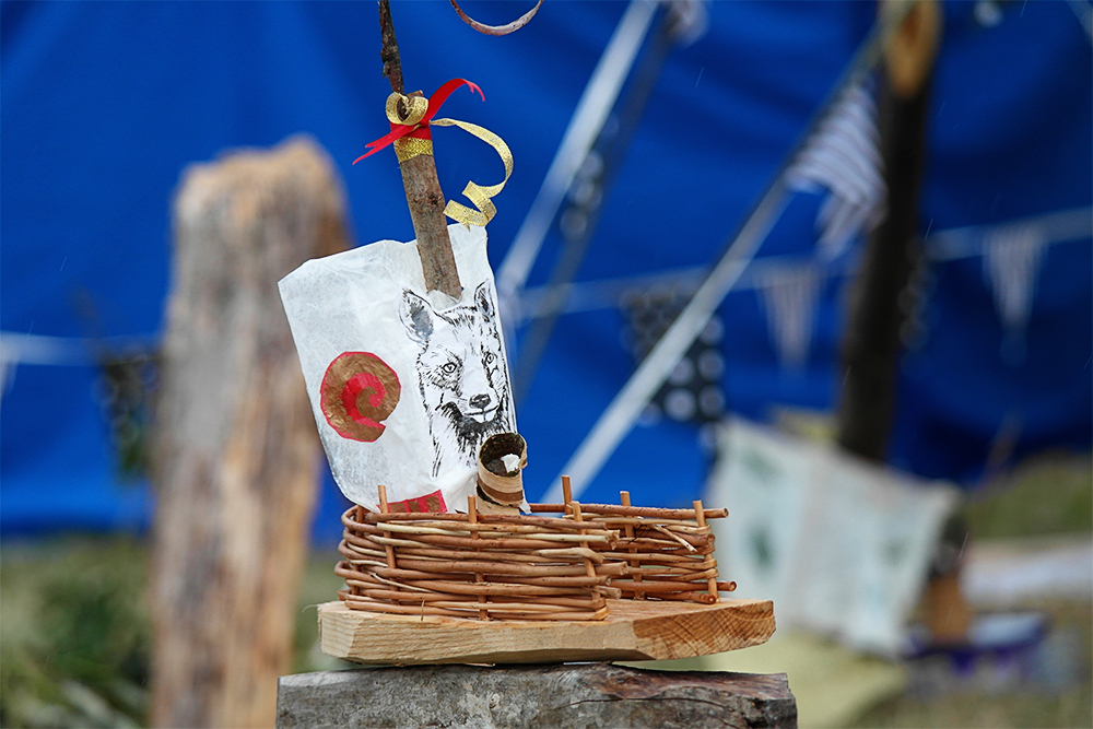 Making a Pirate Boat, Spinney Hollow, Camp Bestival 2014