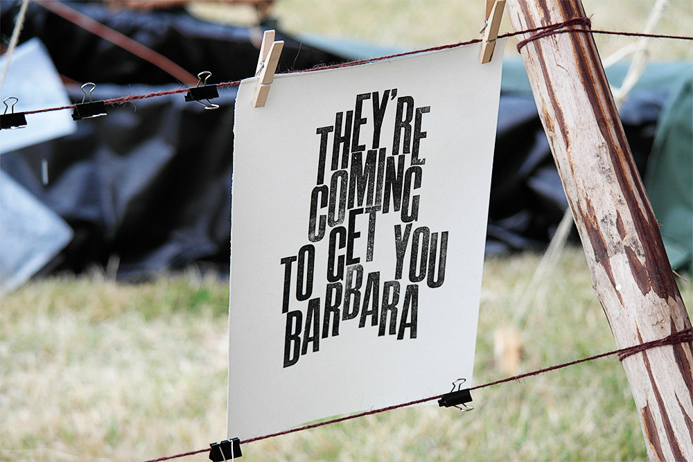 Letter Press Print, Camp Bestival 2014
