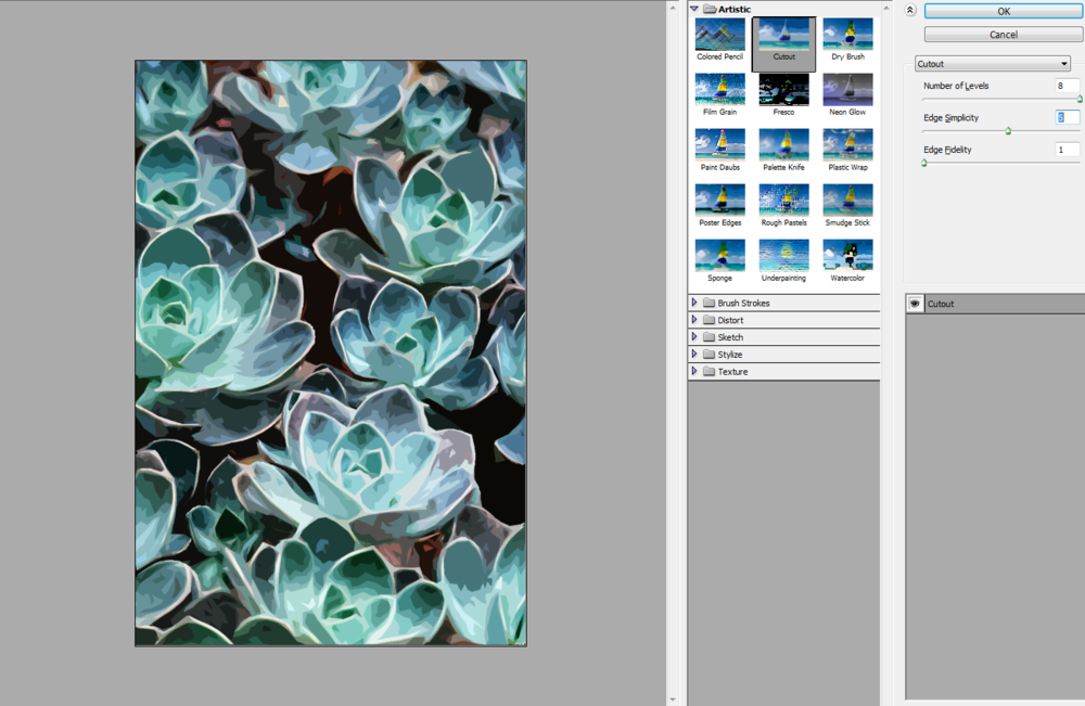 Exploring the 'Cut Out' filter in Photoshop