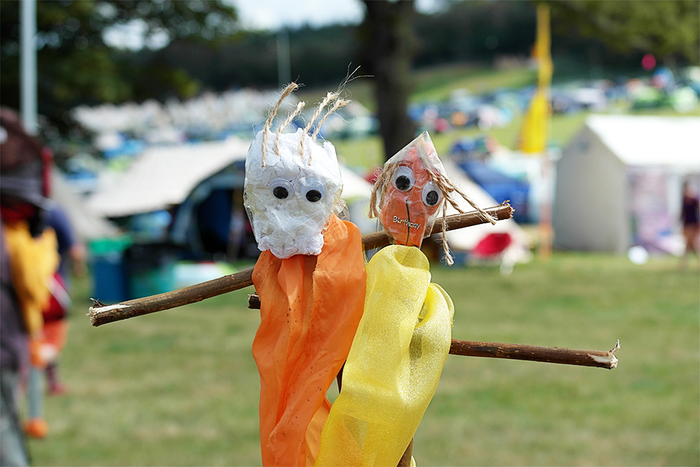 Making stick men at the Soul Park, Camp Bestival